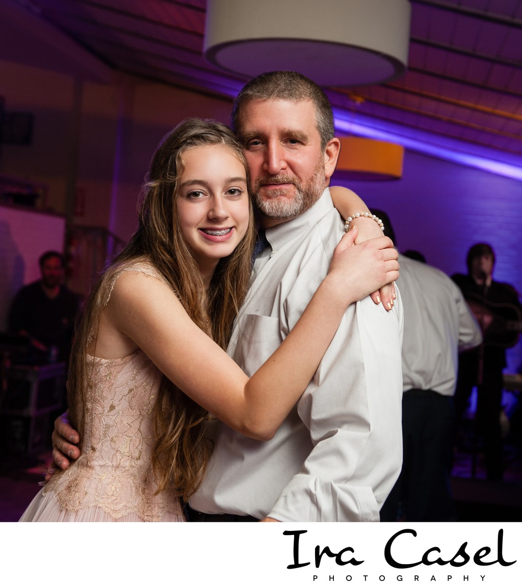 Father-Daughter Bat Mitzvah Dance at the Stone House