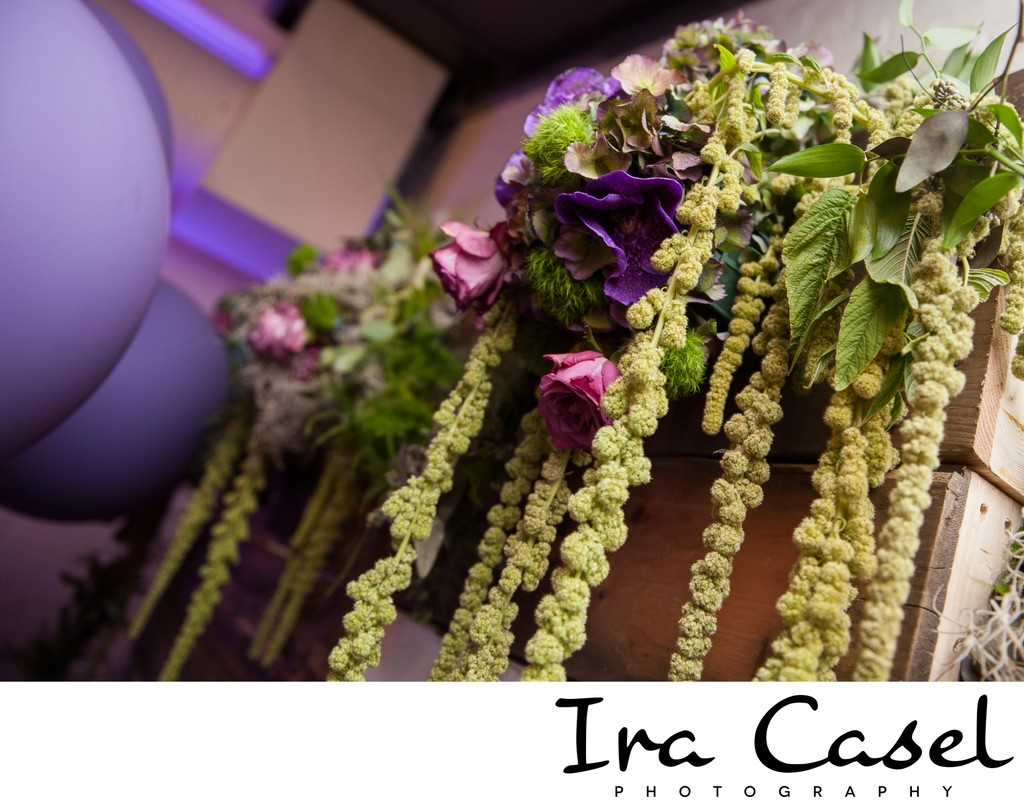 NYC Bat Mitzvah Photography - Floral Decor