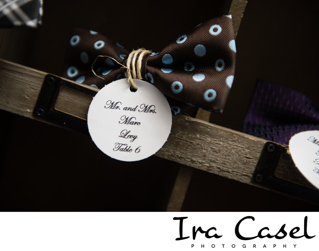 Creative Bar Mitzvah Place Card Idea - Bowties