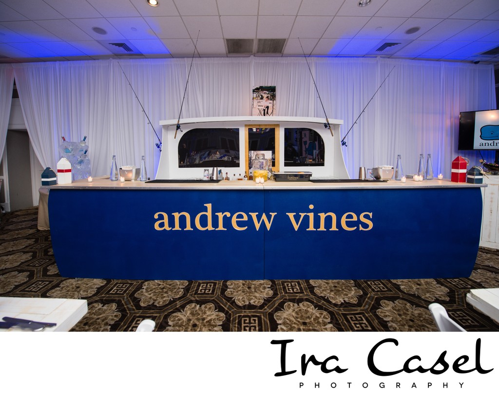 Vineyard Vines Themed Bar Mitzvah - Fishing Boat Decor