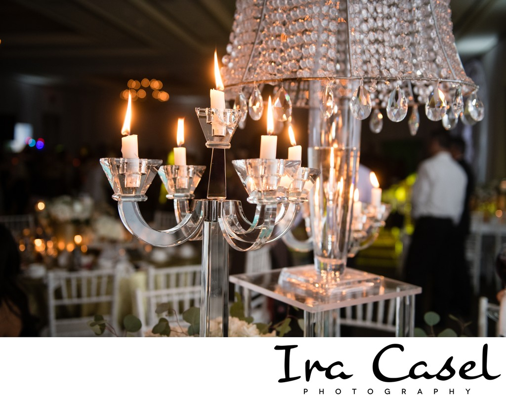 Paris Themed Crystal Chandelier Bat Mitzvah