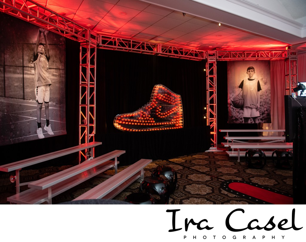 Nike Themed Bar Mitzvah Decor
