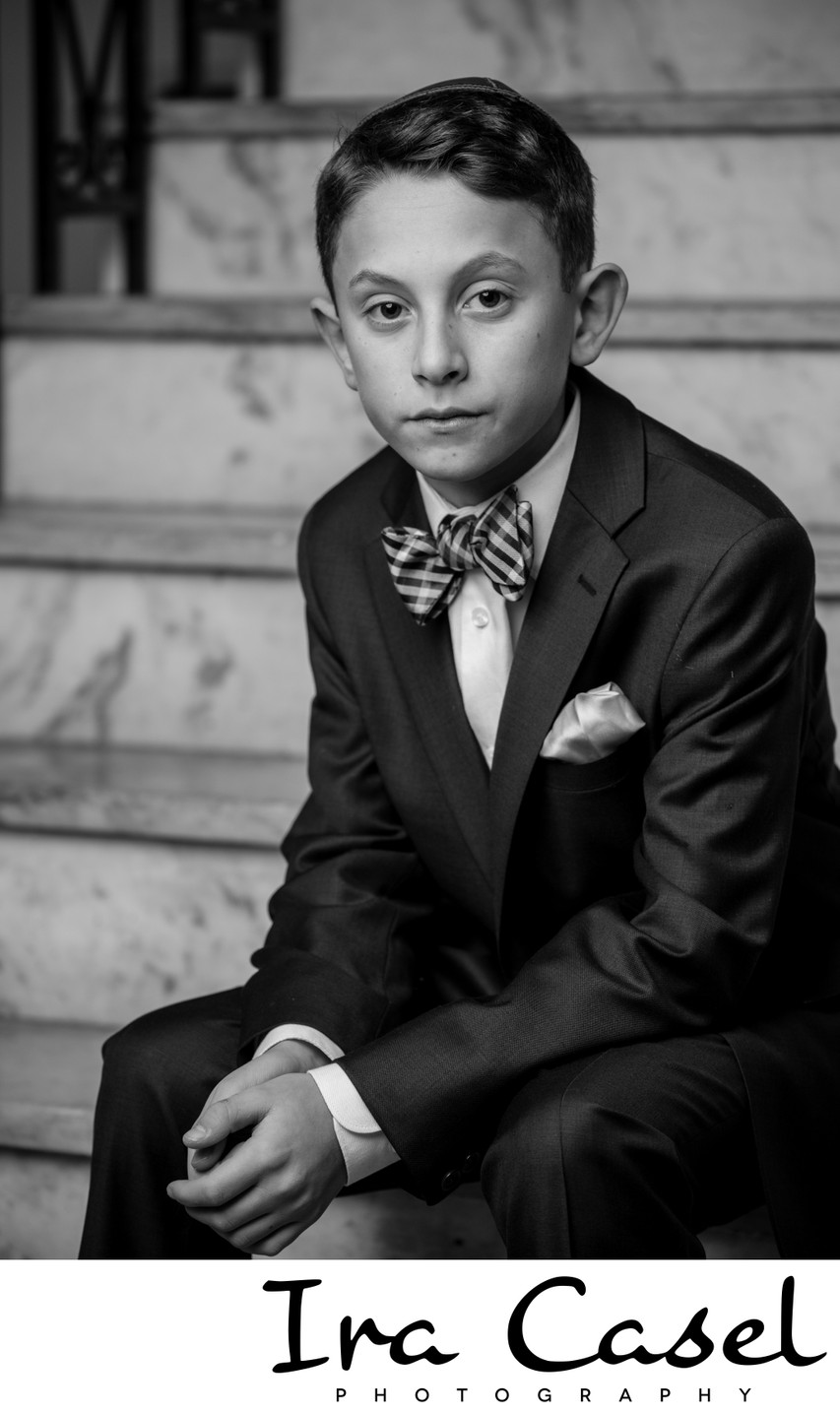 Timeless Black and White Bar Mitzvah Portraits
