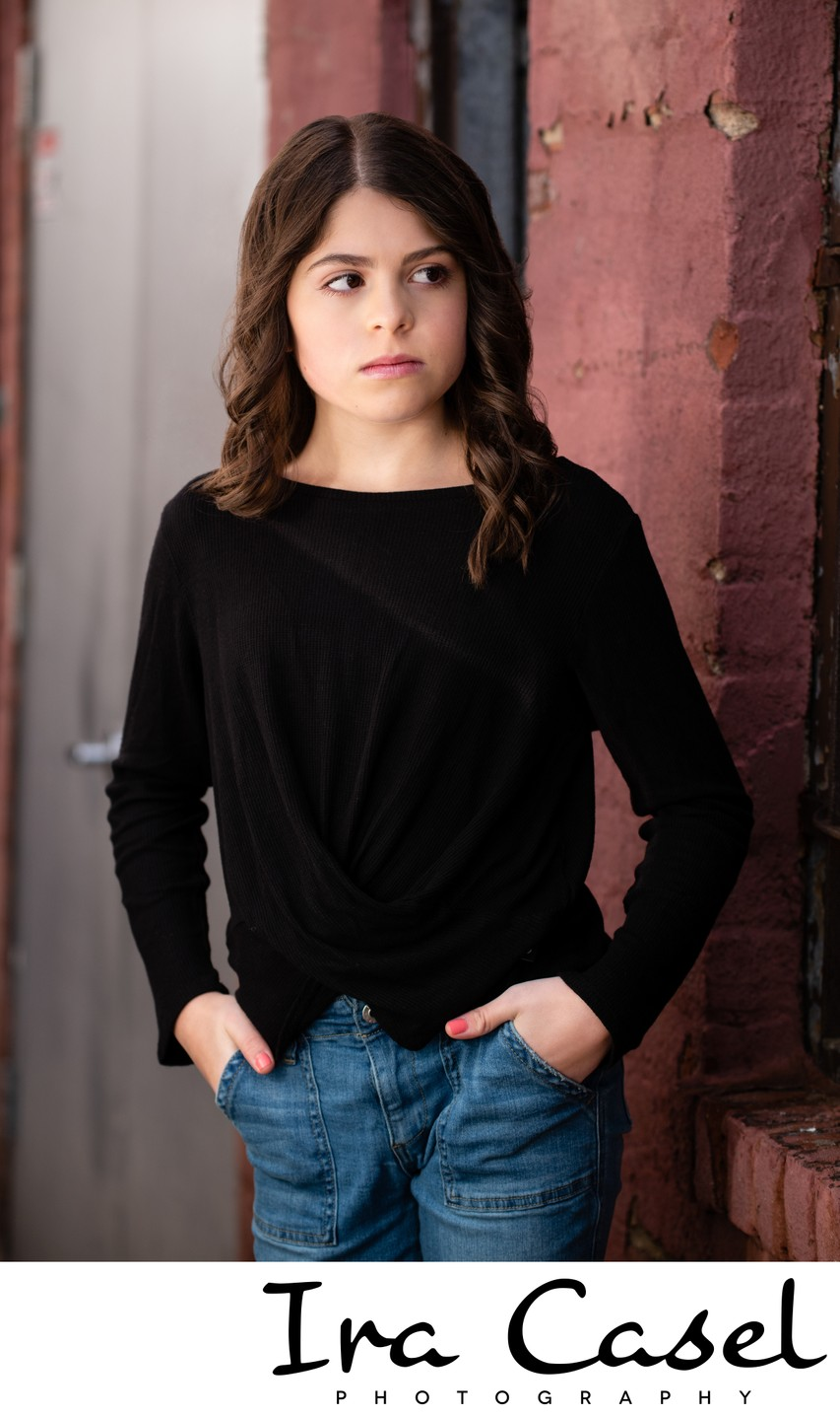Pre-Bat Mitzvah Portrait Shoot: NYC