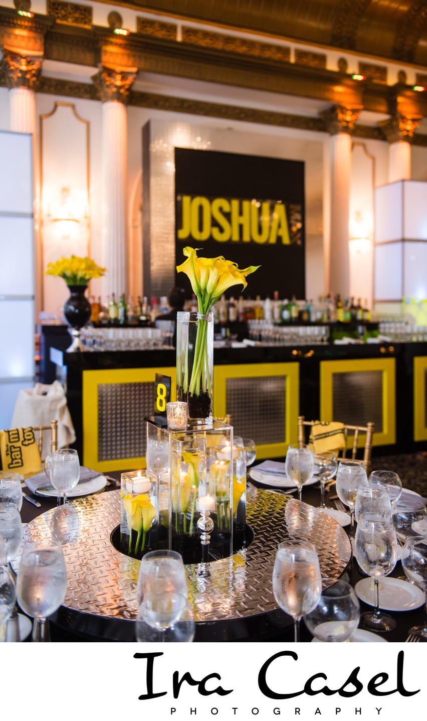 Black and Yellow Bar Mitzvah and the Crystal Plaza
