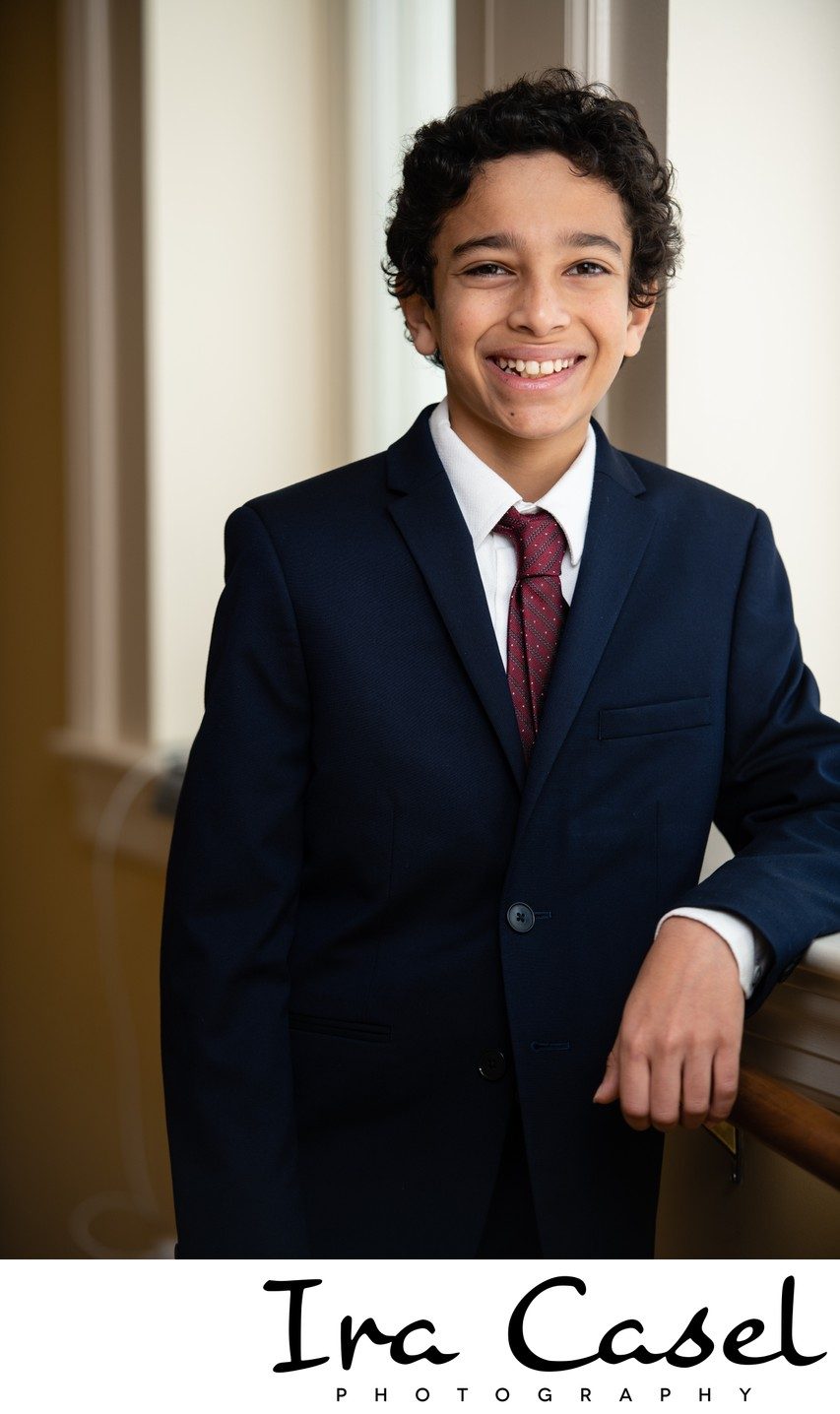 Photographer for Bar Mitzvah Portraits in Summit NJ