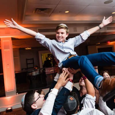 Crowd Surfing Bar Mitzvah Boy