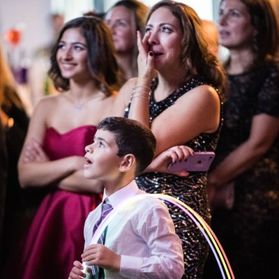 Bar Mitzvah Photography - Watching the Montage