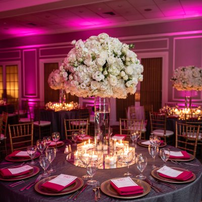 NJ Bat Mitzvah Floral Centerpiece