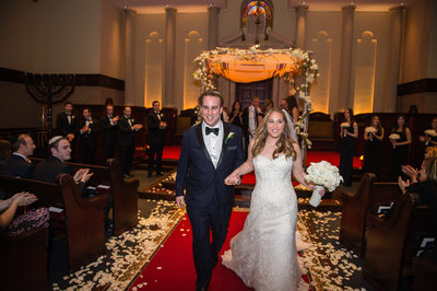 NJ Wedding Photography at Temple Emmanuel Closter