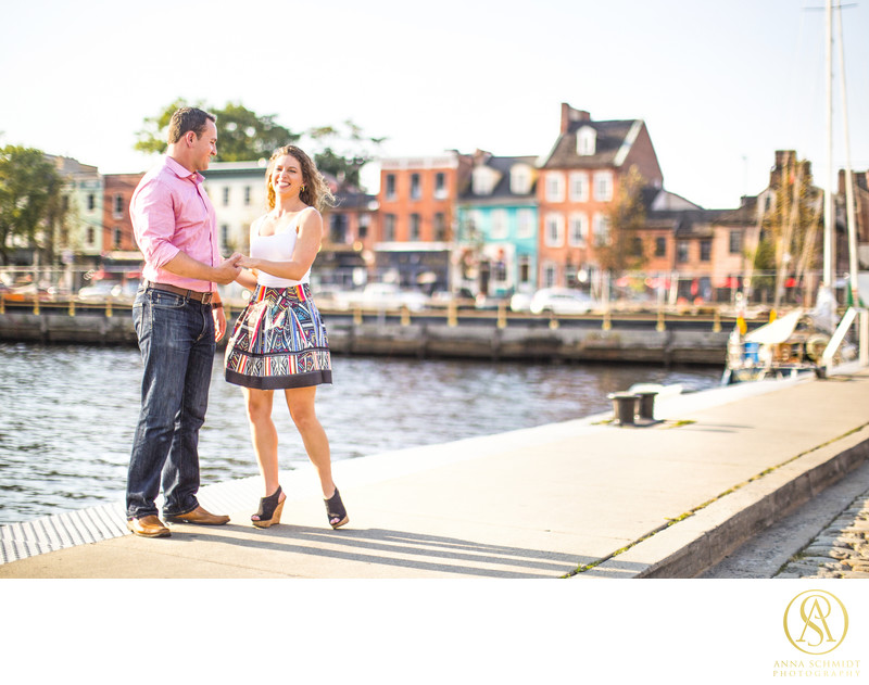 Fells Point Baltimore Engagement Photos