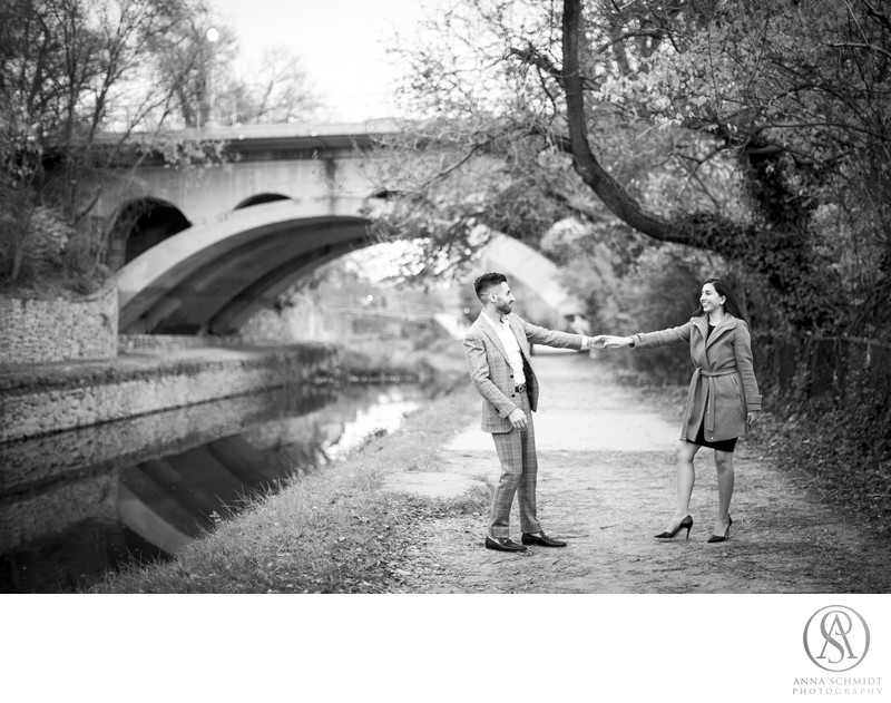 Georgetown Canal Engagement Photos
