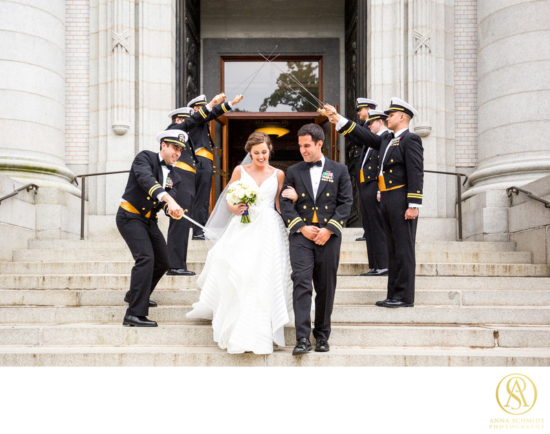 USNA Wedding Sword Arch