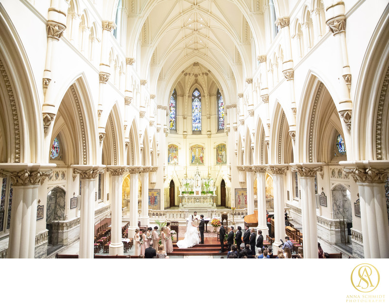Corpus Christi Church Wedding Baltimore