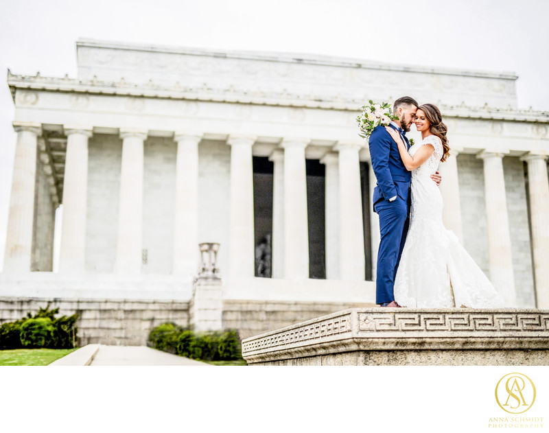 Wedding Photos Lincoln Memorial