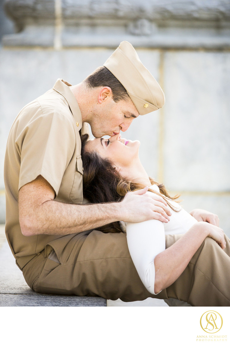 USNA Annapolis Navy Engagement Photographer