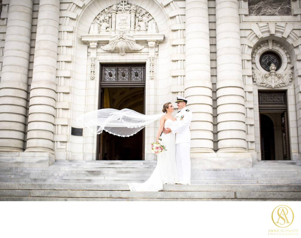 Bancroft Hall Wedding Portraits