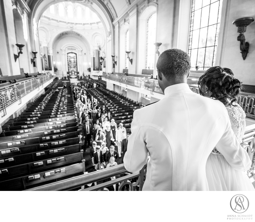 Naval Academy Chapel Wedding Recession