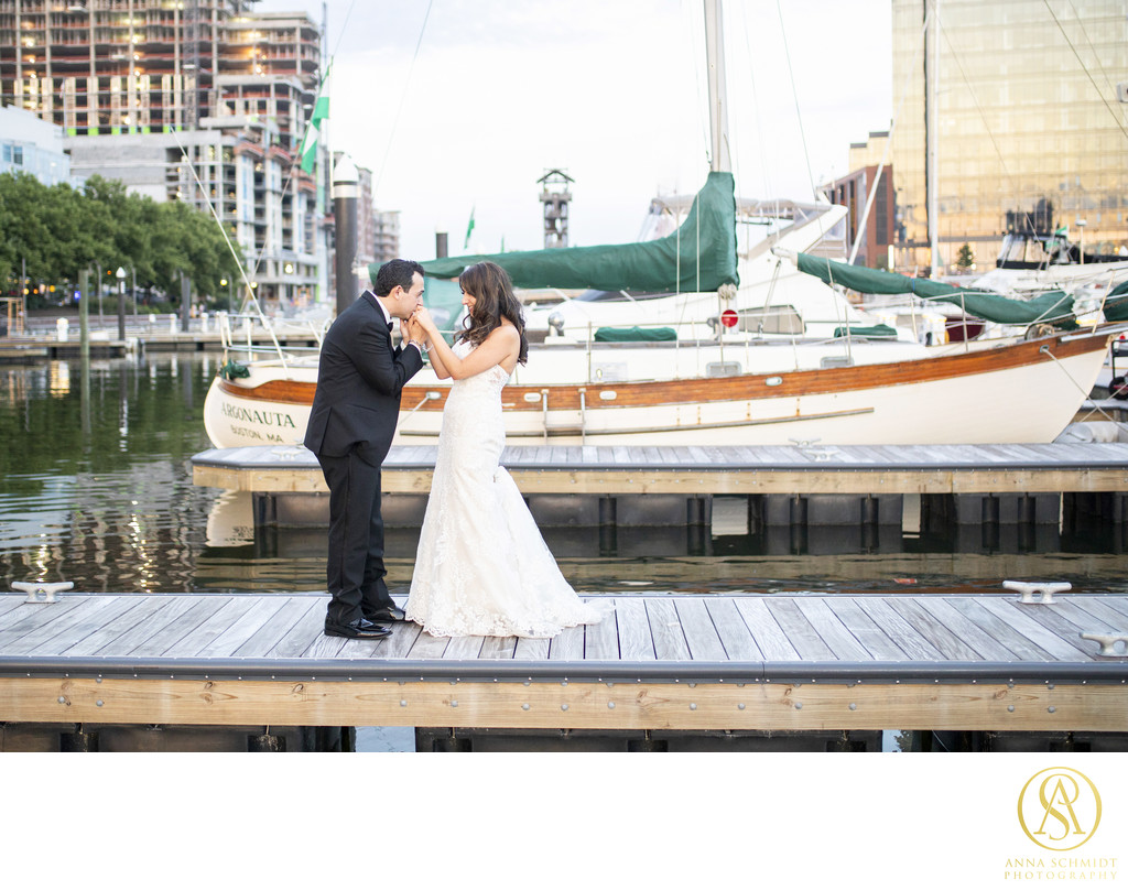 Harbor East Baltimore Wedding Portraits