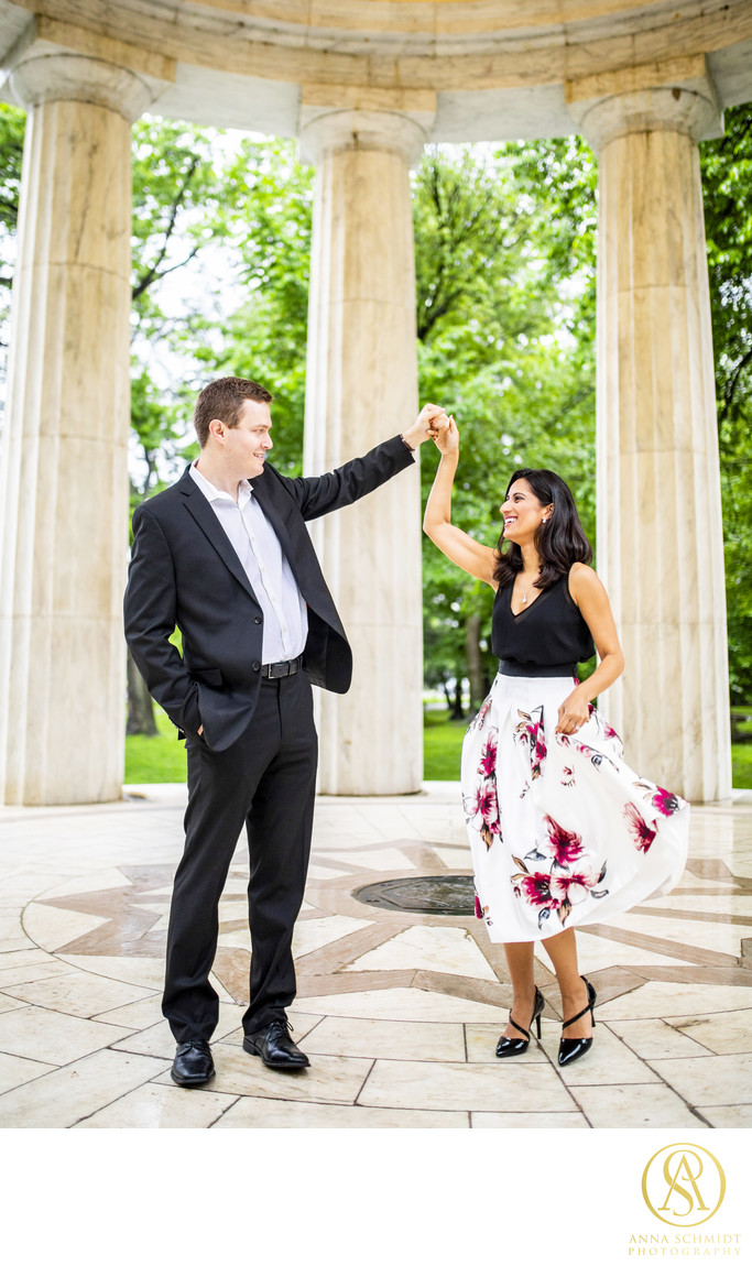War Memorial Engagement Photos