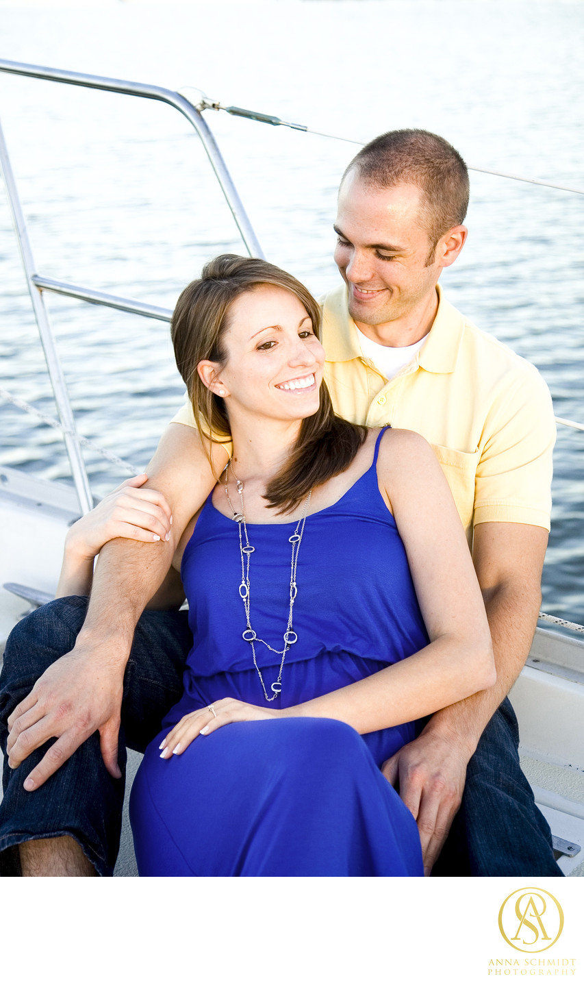 Annapolis Sailboat Engagement Photos