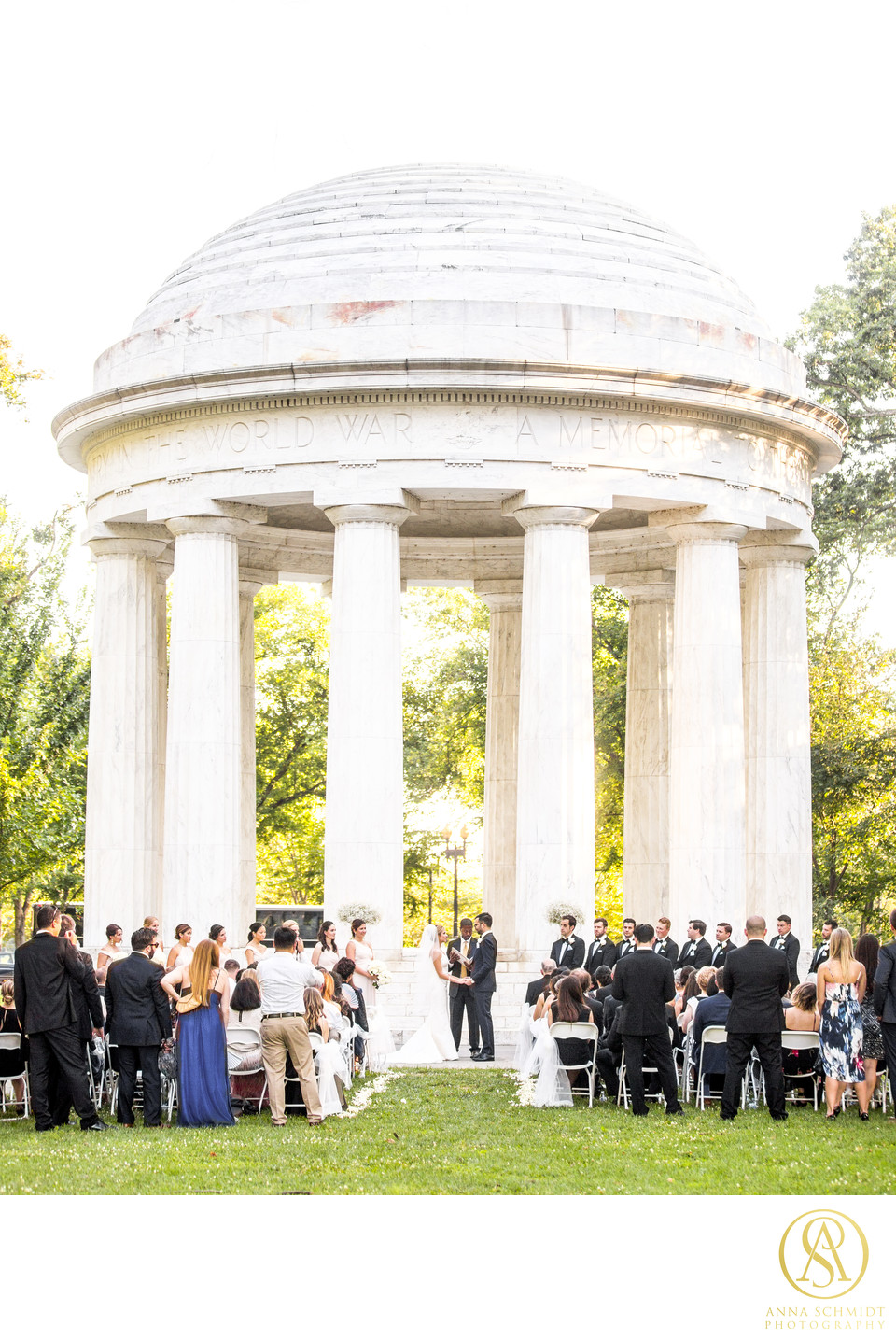 DC War Memorial Wedding Ceremony
