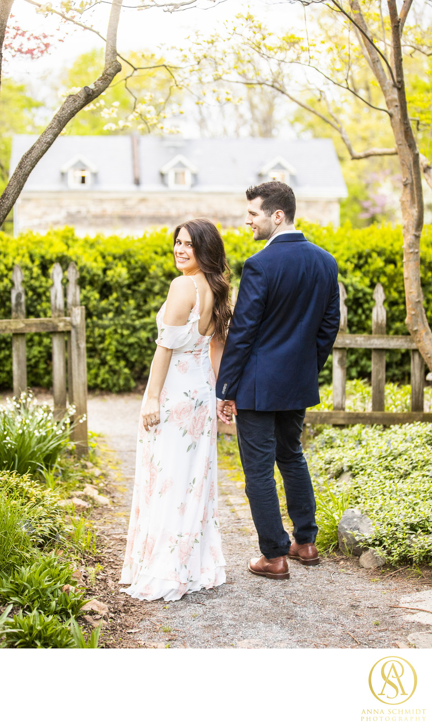 English Garden Engagement