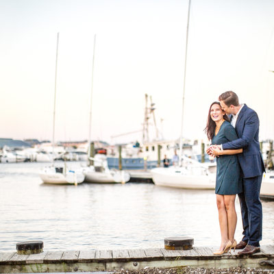 Downtown Annapolis Waterfront Engagement Photos