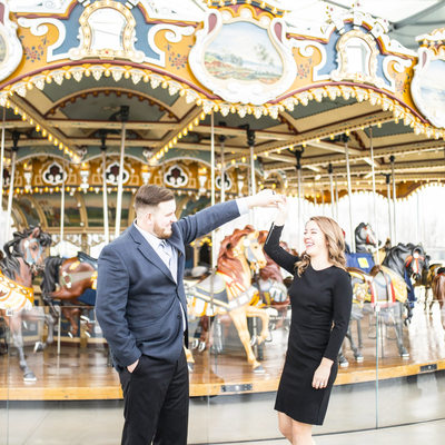 Janes Carousel Engagement Photos
