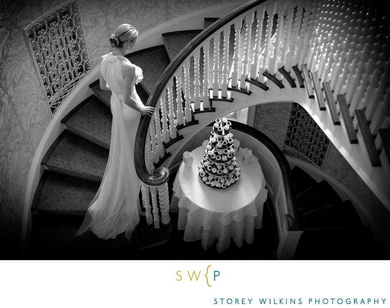 A Bride Ascends the Stairs at McLean House