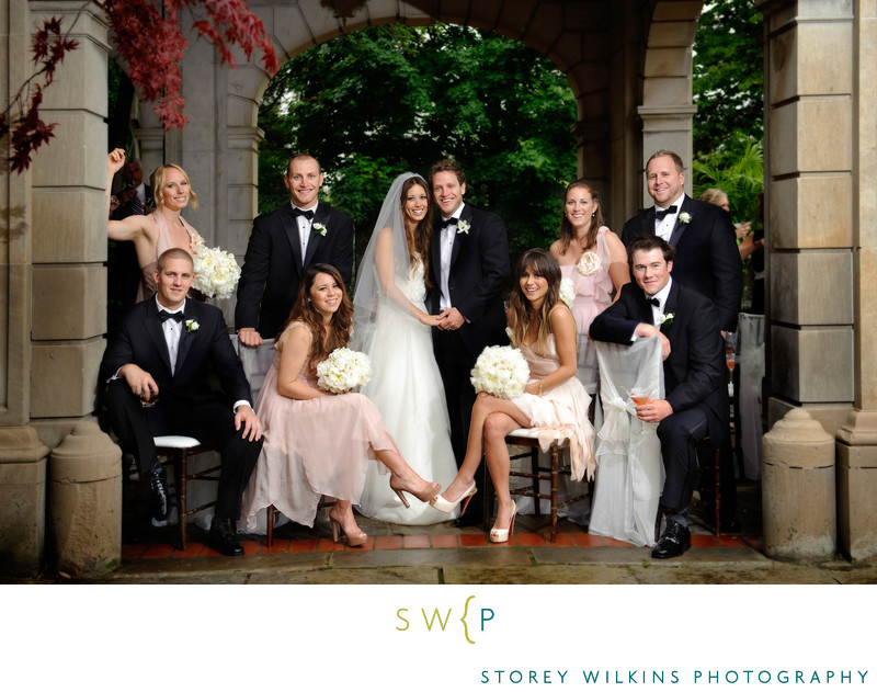 Toronto Wedding Group Portrait Graydon Hall Manor