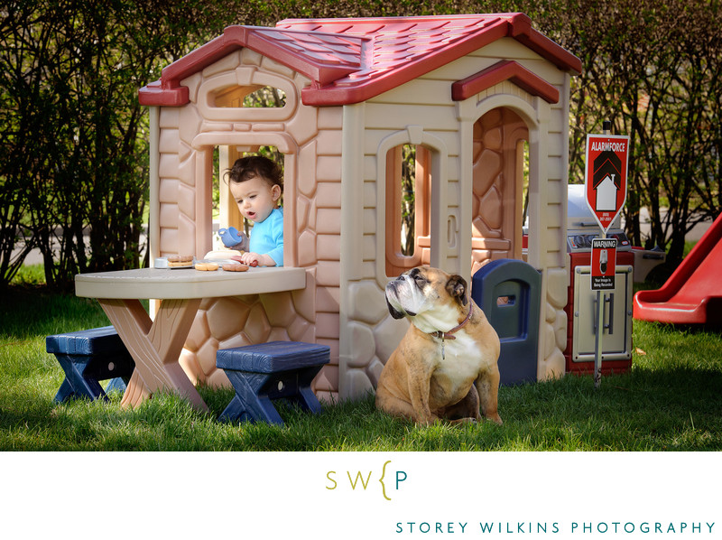 Toronto Family Portraits Back Yard Storey Wilkins