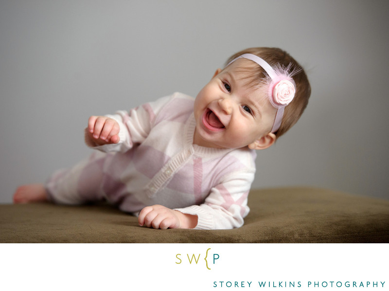 Storey Wilkins Photography Baby Portrait Laughter