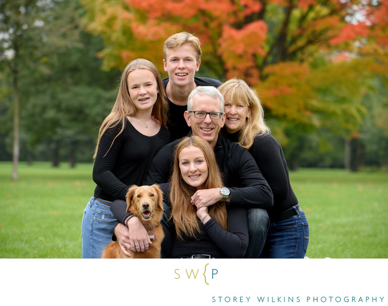 Fall Colours Family Portrait at Sunnybrook Park Toronto