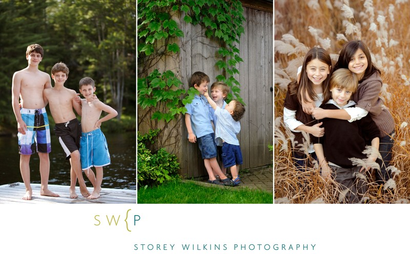 Family Portraits in Muskoka by the Lake: Time to Swim
