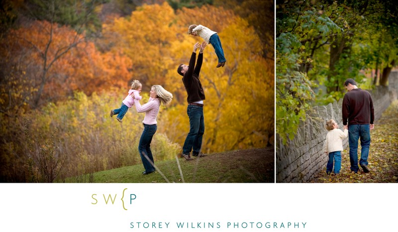 Pro Family Photos with Fall Colours at Sherwood Park