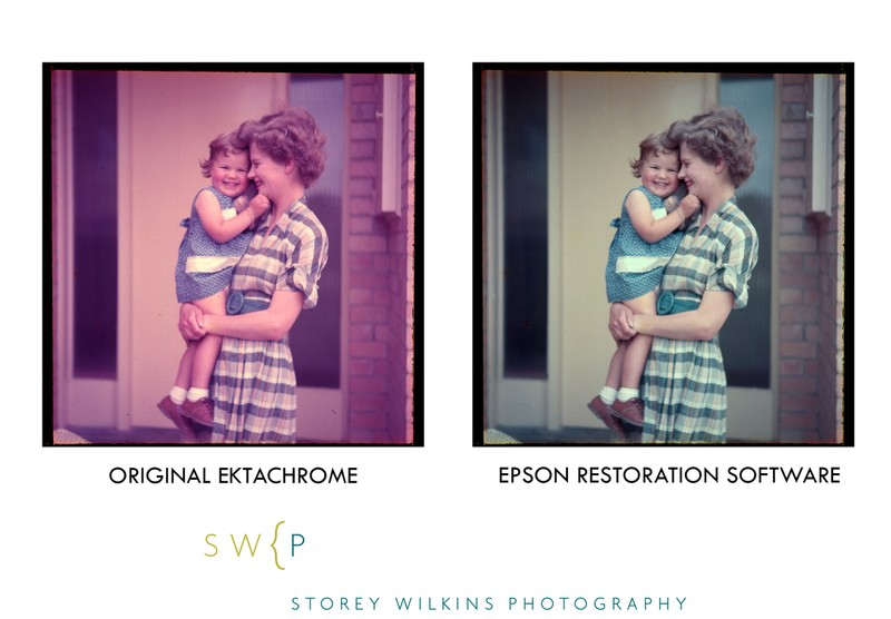 Original Ektachrome versus Epson Restoration Software