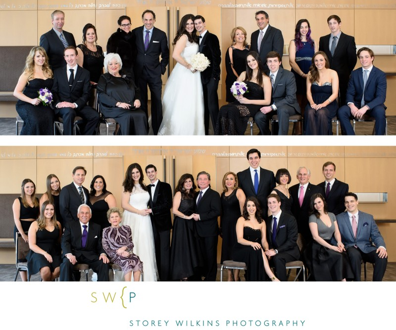 Extended Family Group Portraits at the Synagogue