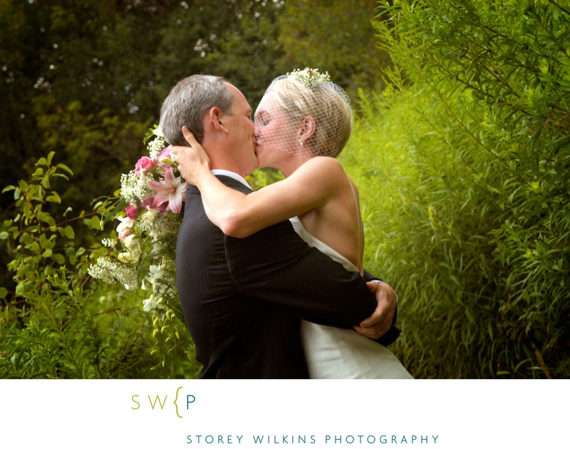 Zephyr Ontario Farm Wedding: Passionate Newlyweds Kiss