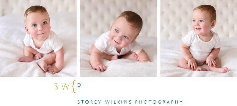 Toronto Baby Portrait Photography White on White