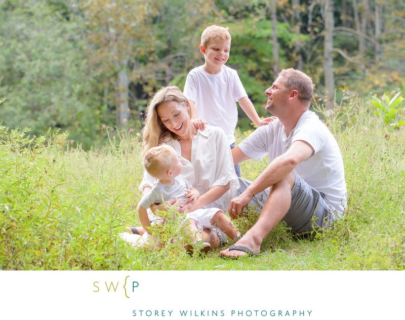 Summer Family Photography Outside