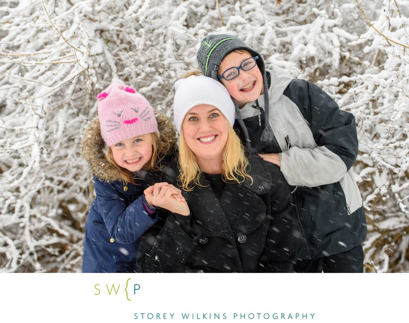 Outdoor Winter Family Photography