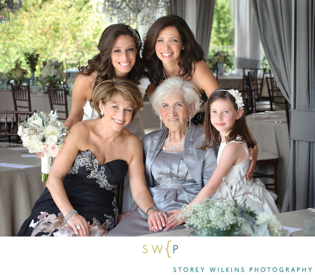 Four Generation Portrait at Oakdale Golf Club Wedding