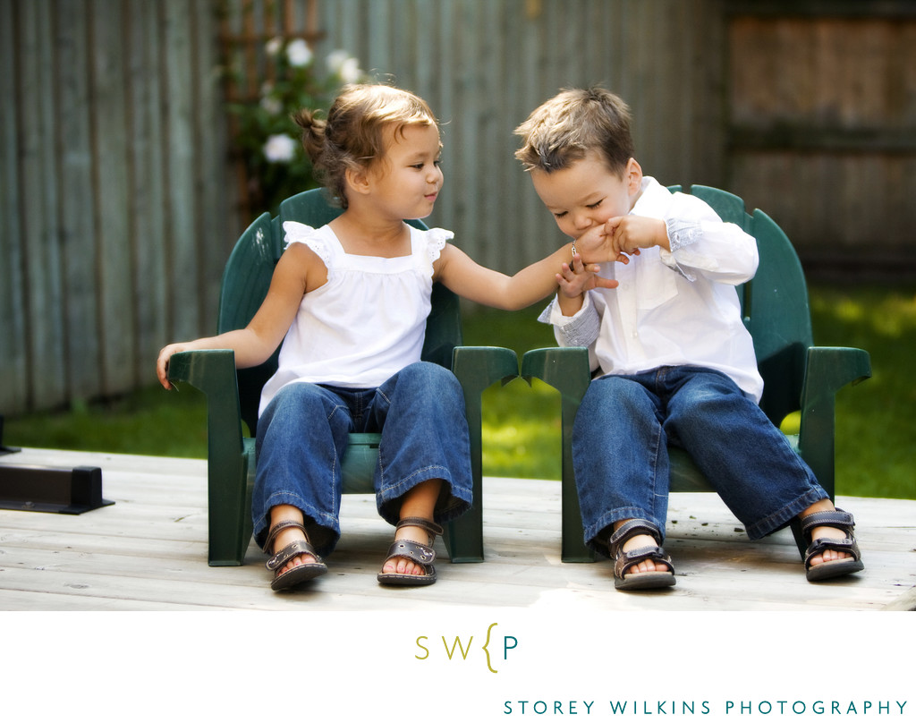 Artfully Posed Kids Photography Combines Play & Posing