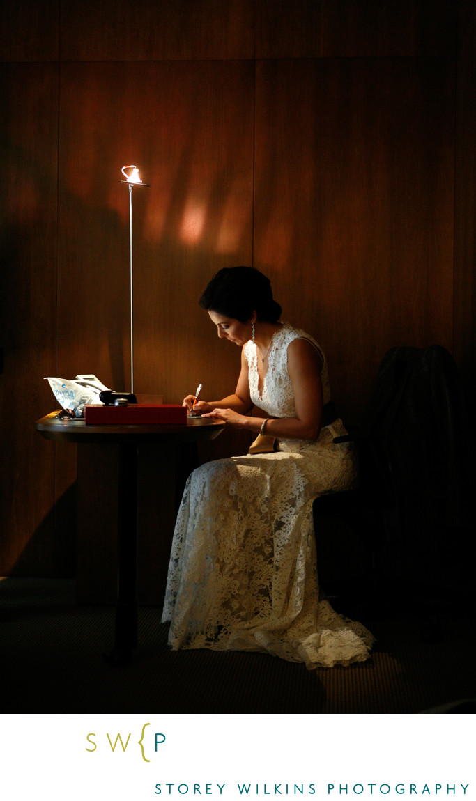 Bride Writes Letter to her Groom Le Germain Hotel