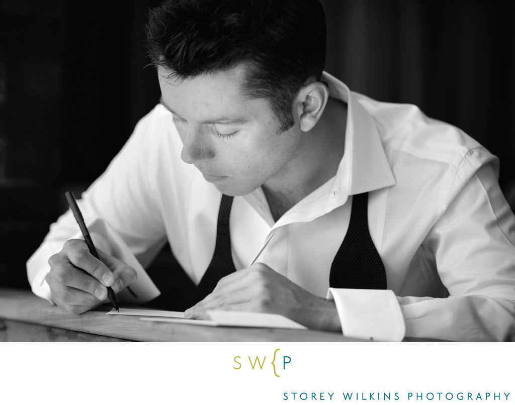 Writing a Letter to His Bride on the Wedding Day