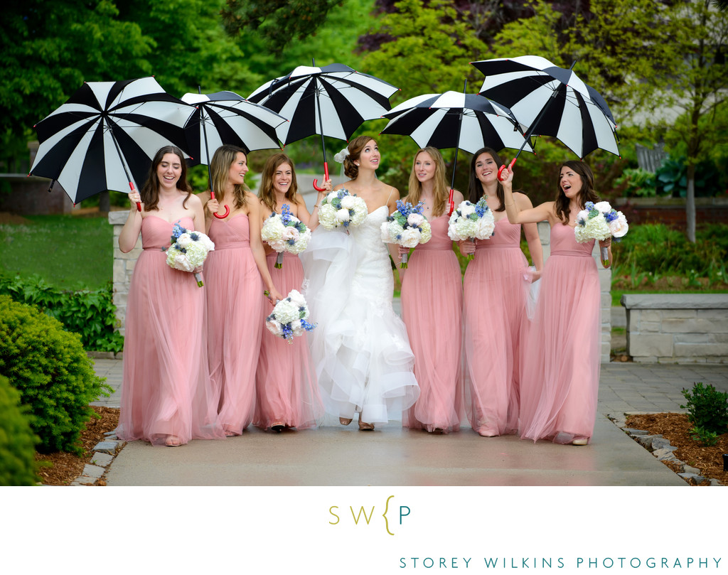 Oakville Wedding Photograph Bridesmaids Appleby College