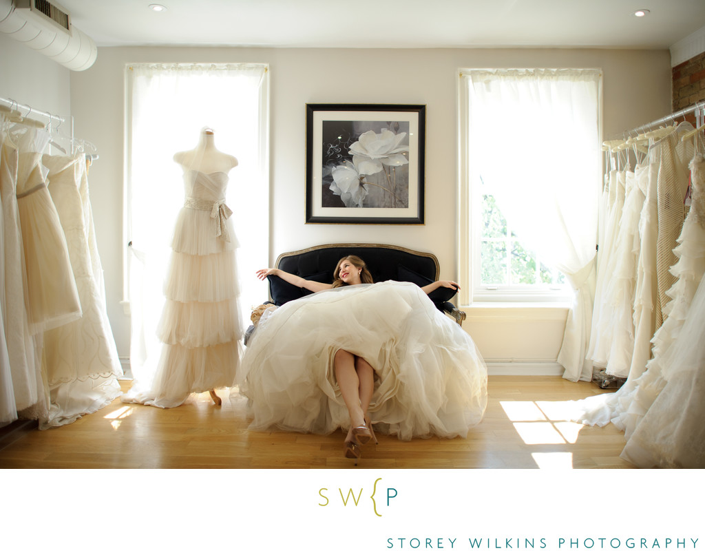 Toronto Wedding Dress Photography at Bridal Boutique