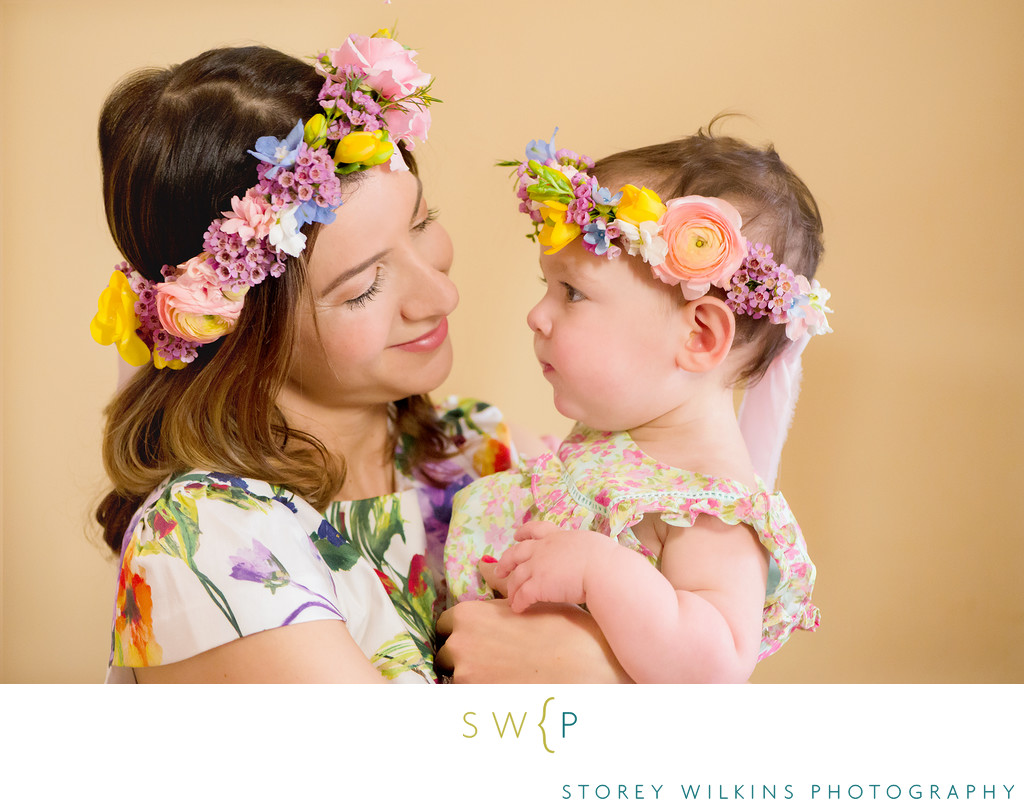 Mother Daughter Photo: Spring Flowers and Mommy Cuddles