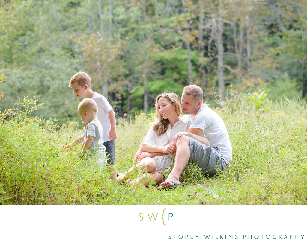 Family Portrait in Meadow at Stoufville Conservation